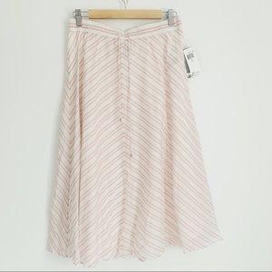Ralph Lauren Striped Midi Skirt